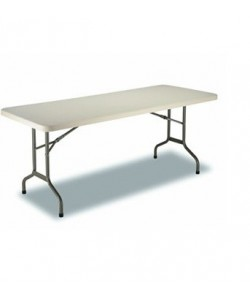 Mesa plegable Rf. 3153115, armazón acerado, tapa de polietileno, 180X74 cms