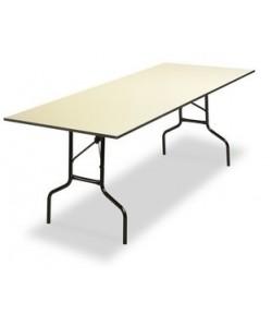 Mesa plegable Rf. 3153125, armazón acerado, tapa de melamina, 200X45 cms