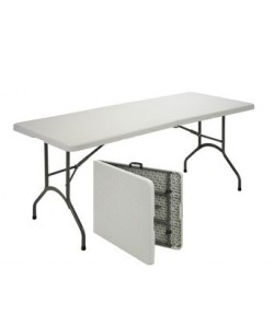 Mesa plegable 311plus, armazón acerado, tapa plegable de polietileno, 180x74 cms