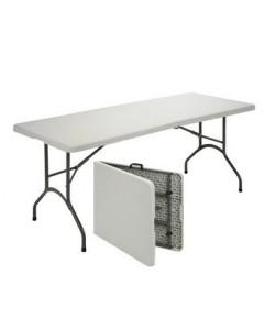 Mesa plegable 311plus, armazón acerado, tapa plegable de polietileno, 210x86 cms