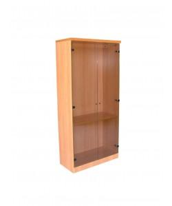 Armario alto de puertas cristal, 90x43x191 cms. Color a elegir.