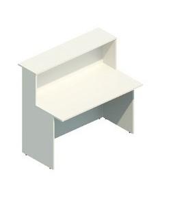 Mostrador de recepción Mod.200, 140x74x115 cms. Color blanco