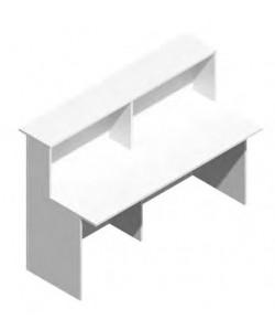 Mostrador de recepción Mod.200, 160x74x115 cms. Color blanco.