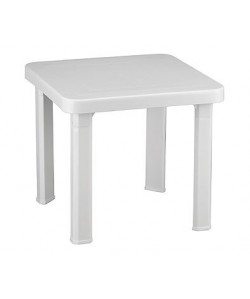 Mesa auxiliar para tumbona, polipropileno, apilable, 47 x 47 cm.
