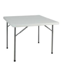 Mesa plegable YOGO, armazón metálico, tapa de polietileno, 88,4X 88,4 cms