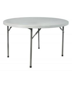 Mesa plegable ROSSI, armazón metálico, tapa de polietileno, 122 cms