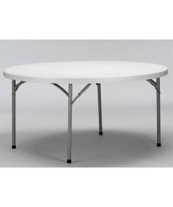 Mesa plegable VEDIR, armazón metálico, tapa de polietileno, 152 cms