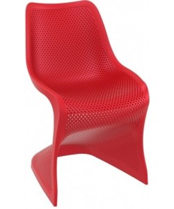 Silla BLOOM, color polipropileno rojo o blanco