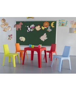 Mesa Julieta, infantil, apilable, 5 colores