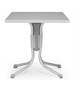 Mesa Polo, plegable, aluminio, polipropileno, tapa werzalit 80 x 80 cms.
