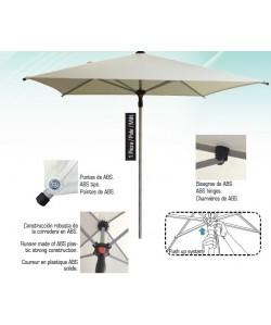 Parasol aluminio 2 x 2 metros - HEAVY