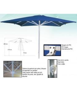 Parasol aluminio 3 x 3 metros - BASIC