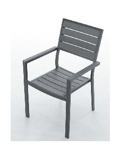 Sillón 28577265, aluminio y lamas de resina.