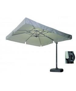 Parasol ELECTRA, lateral, giratorio, aluminio, tejido 300x300 cms.