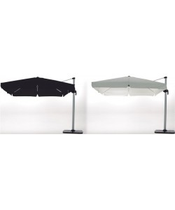 Parasol LOIRA, suspendido, lona crudo o negra 300x300cm*