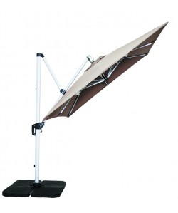 Parasol Excéntrico, estructura de aluminio,color taupe 250 x 250 cms