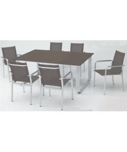 Conjunto ESPARTA, mesa + 6 sillas.