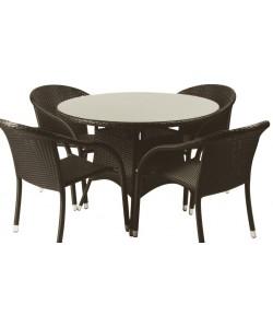Conjunto REMO, mesa + 4 sillas.