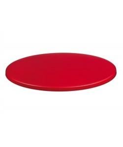 Tablero de mesa Topalit - Serie Mono - Rojo-403, 70 cms. de diámetro*