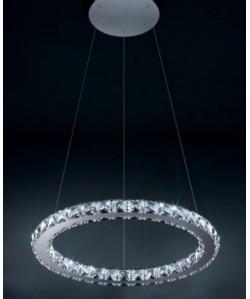 Lámpara BO-LTBOD, cristal, cromada, led, 50 cms. de diámetro*