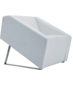 Sillón OLI-1SBL, similpiel blanca