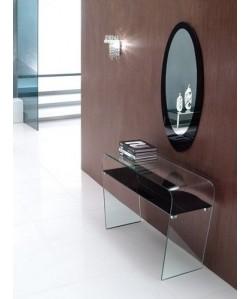 Consola LAUREN, diseño, cristal curvado