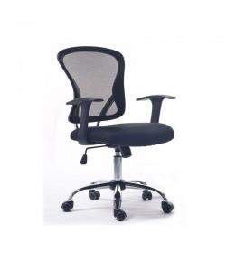 Silla de oficina LOT, brazos, malla y tejido negro