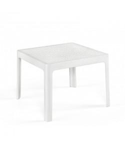 Mesa BILL, baja, polipropileno blanco, 50 x 50 cms