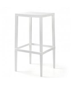Mesa CHOPIN-103, apilable, polipropileno blanco, 56 x 56 x 103 cms