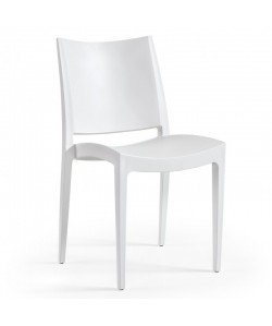 Silla BEYBE, apilable,  polipropileno blanco