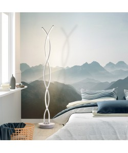 Lámpara POLUS, de pié, blanca, led 60 w