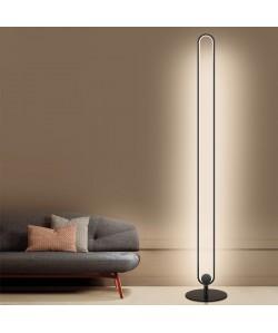 Lámpara NIHAL, de pié, negra, led 60 w
