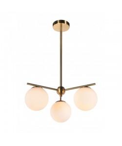 Lámpara OKAB, colgante, tulipa blanca, 3 luces