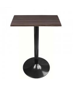 Mesa CRISS, negra, tapa de 60 x 60 cms. Color a elegir
