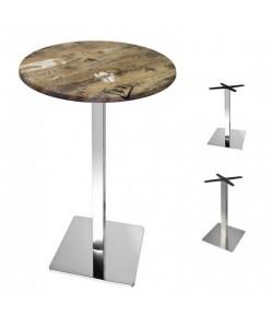 Mesa RHIN, alta, acero inoxidable, tapa 60 cms. Color a elegir