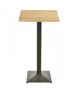 Mesa ELBA, alta, negra, tapa de 60 x 60 cms. Color a elegir