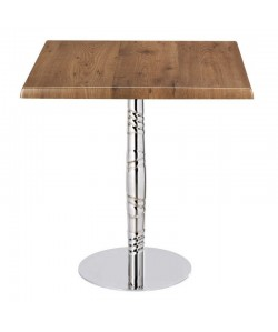 Mesa LUXOR, acero inox., tapa de 70 x 70 cms. Color a elegir
