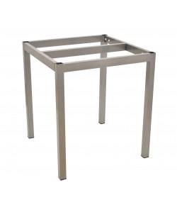Base de mesa LIRIO, metal acabado gris plata, 65*65*72