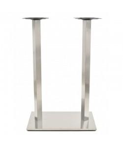 Base de mesa IPANEMA, alta, acero inoxidable, 70*40*110 cms, pulido satinado