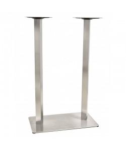 Base de mesa COPACABANA, alta, acero inoxidable, 70*40*110 cms, pulido satinado