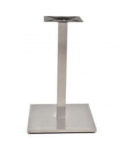Base de mesa IPANEMA, acero inoxidable, 45*45*72 cms, pulido satinado