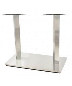 Base de mesa IPANEMA, acero inoxidable, 70*40*72 cms, pulido satinado