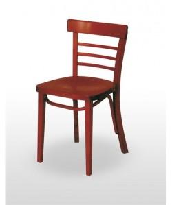 Silla de madera de haya GRENO, asiento madera barnizada.