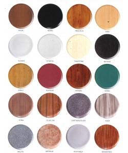 Carta de colores asientos werzalit  para marca PR-1