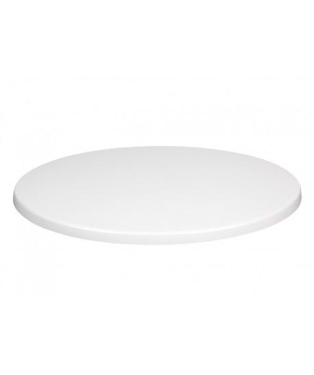 Tablero de mesa Werzalit-Sm, BLANCO 01, 80 cms de diámetro*.