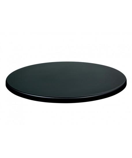Tablero de mesa Werzalit -Sm-, NEGRO 55, 80 cms de diámetro.