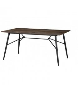 Mesa PORLO, metal, tapa de DM acabado vintage, 160x90 cms