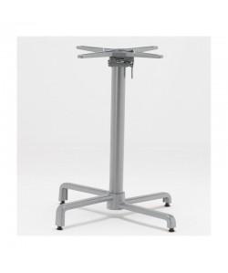 Base de mesa BAHIA, abatible, aluminio fundido, plata.