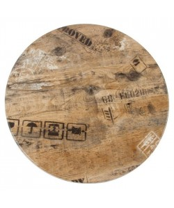 Tablero de mesa Werzalit-Sm, EX WORKS 122, 70 cms de diámetro*.