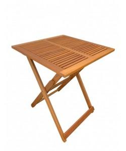Mesa plegable BENI, 60x60 cms, madera de balau